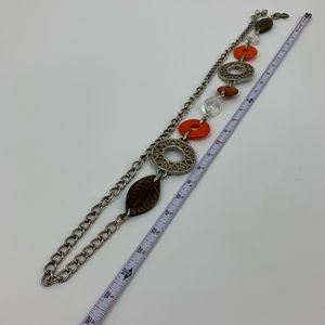 Chico's Accessories - Chico's Belt beaded leaf metal chain adjustable